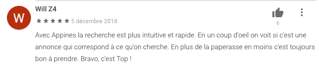 commentaire app'ines google store n°5